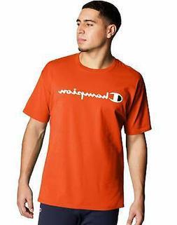 T-Shirt Mens Champion Jersey Tee Classic Script Logo Athleti