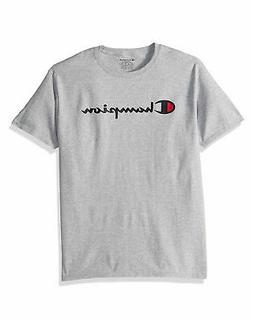 t shirt script logo boys jersey tee