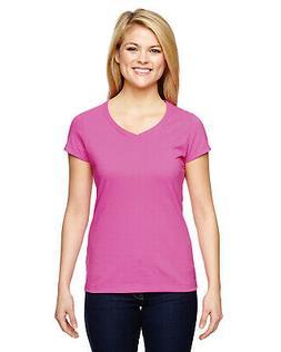 Champion T050 Tshirt Womens Vapor Cotton Short-Sleeve V-Neck