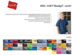 Hanes 5250 Tagless T-SHIRTS BLANK BULK LOT Colors or White S