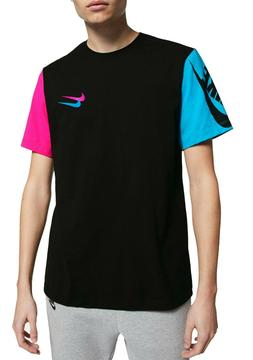 Nike Tee City Brights T-Shirt Men's Colorblock Sleeve Black/