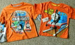 Thomas the Train 2 pack of boys 2T boys orange T-Shirts
