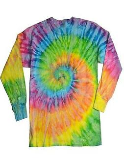 Saturn Tie Dye T-Shirt Multi-Color Long Sleeve Adult S M L X