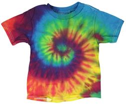 Tie-Dye T-Shirt - Reactive Rainbow -Toddler /2T