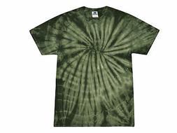 Tie Dye T-Shirts Green Forest Adult S M L XL 2XL 3XL Cotton
