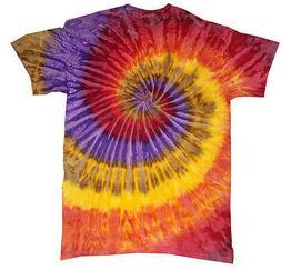 Tie Dye T-Shirts Multi-Color Festival S M L XL 2XL 3XL Cotto