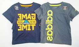 Adidas Toddler Boys T-Shirts Glow in the Dark Logo and Game