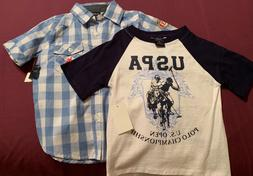Toddler U.S POLO Assn 3T shirts. Includes two NEW shirts.