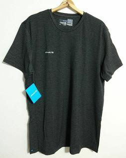 Columbia Tri-Blend S/S T-Shirt Men's XL Black Stripe Lightwe