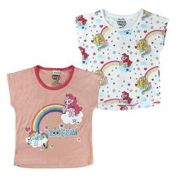 My Little Pony Twin Pack of Girls Cotton T-Shirts