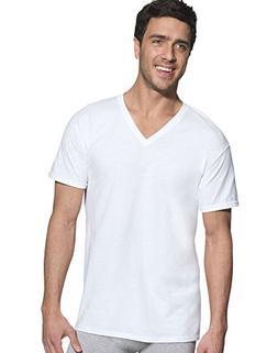 Hanes Ultimate Men's 5-Pack White V-Neck Tee, White, XX-Larg