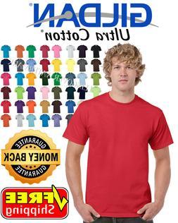 Gildan Ultra Cotton T-Shirt Mens Short Sleeve Tees 100%  6 o