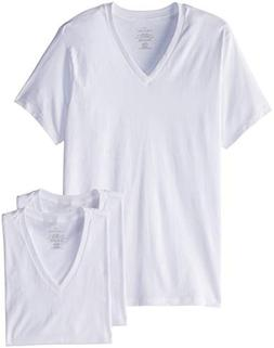 Calvin Klein Men's Undershirts Cotton Classics 4 Pack V Neck