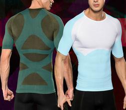 US Men's Compression Vest Tank Tummy Control T-Shirt Chest S