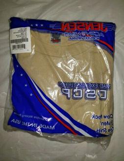 USGI Jensen Activewear 3 Men's Crew Neck T Shirts DSCP Sand