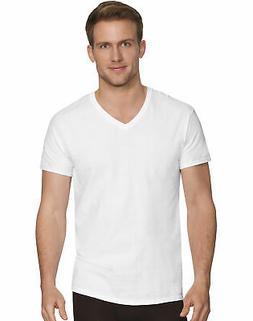 Hanes V-Neck 4-Pack T-Shirt Men's Comfort Fit White Undershi