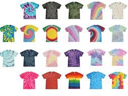 vibrant multicolor tie dye t shirts adult