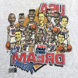 Vintage 90s USA DREAM TEAM T-Shirt Reprint For Men