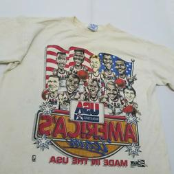 Vintage USA Basketball 1992 World Tour Dream Team White T-Sh