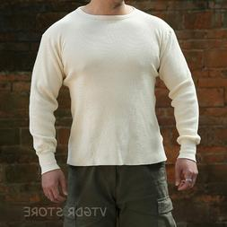 NON STOCK Waffle Pattern Knit Tee Heavyweight Mens Long Slee