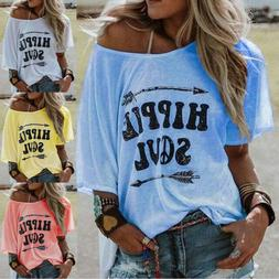 Women Cute Hippie Soul Tops Long Sleeve Printed Casual T-shi