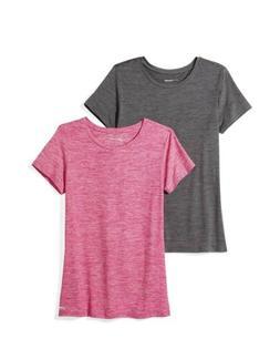 Amazon Essentials Women's 2-Pack Tech Stretch S/S Crewneck T
