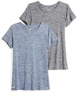 Amazon Essentials Women's 2-Pack Tech Stretch Short-Sleeve C