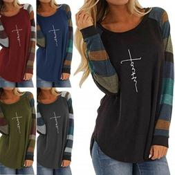 Women's Tunic Long Sleeve Faith T-shirt Lightweight Shirts B