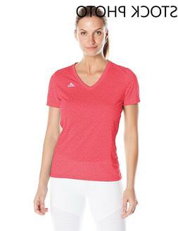adidas Women's Ultimate Short-Sleeve V-Neck T-Shirt Large Ra