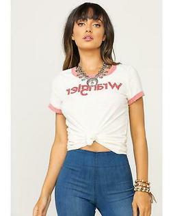 Wrangler Women's White and Ringer T-Shirt  - LWK450W