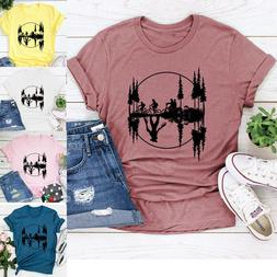 Women Stranger Things T Shirts Hawkins Middle School Bicycle