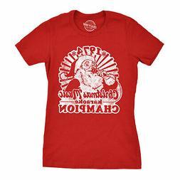 Womens 1974 Christmas Music Karaoke Champion Tshirt Funny Sa