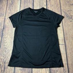 Amazon Essentials Womens Large Black Short Sleeve V Neck Tee