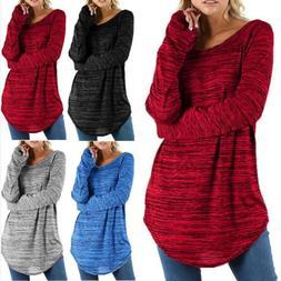 Womens Long Sleeve T-Shirt Long Sleeve Pullover Shirts Blous