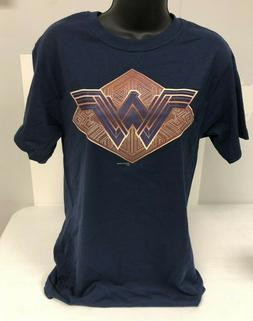Wonder Woman T-Shirt Womens Small Dark Blue Graphitti  NEW
