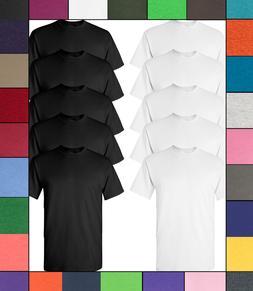 Gildan Men's Ultra Cotton T-Shirts 10-Pack 6.0 oz 100% Presh